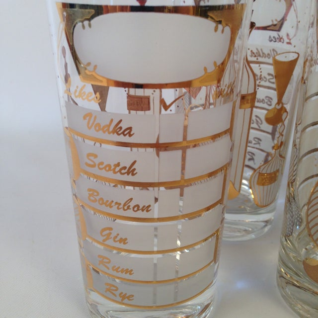 Signed Gay Fad Cocktail Glasses - Set of 6 - Image 3 of 6