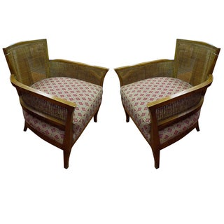 Tonir Seat Chairs with Wicker Backs - Pair