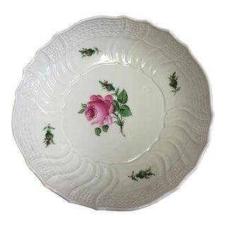 Vintage Textured Porcelain Rose Dish