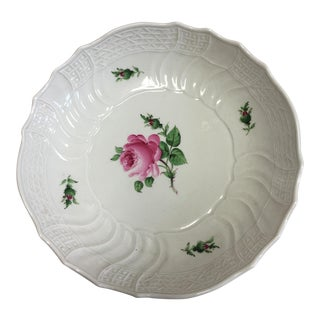 Vintage Textured Porcelain Rose Dish