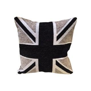 Black, Gray & White Union Jack Down Pillow