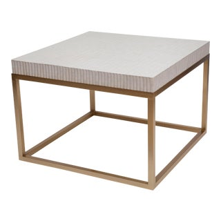 Brass and Bone Tiled Coffee Table