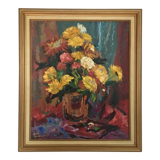 Framed Floral Study Painting
