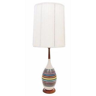 Mid-Century Multicolor Stripe Lamp
