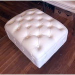 Image of Faux Leather Tufted Armchair