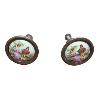 Vintage L Hitchcock Drawer Pulls - A Pair
