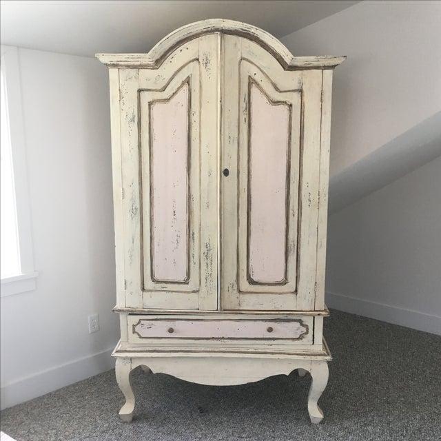 Antique Pastel Armoire - Image 2 of 6