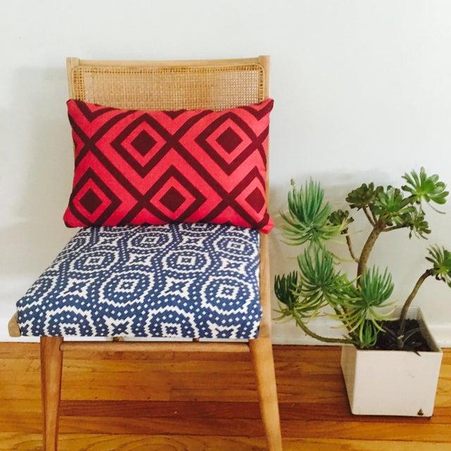 Image of Boho Mid-Century Modern Cane Chair