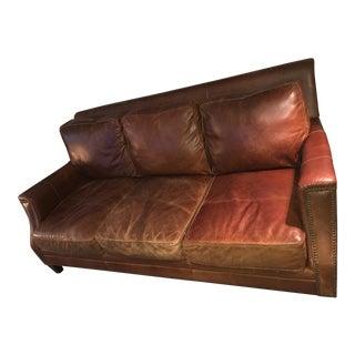 Bradington Young 8 Tie Seven Seas Leather Sofa