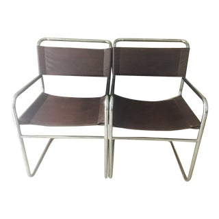 Vintage Mod Chrome Arm Chairs - a Pair