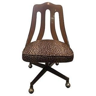 Vintage Lucite & Leopard Desk Chair