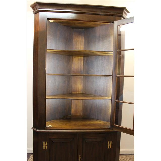 Henkel Harris Genuine Lighted Corner Cabinet - Image 6 of 11