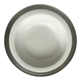 Match Convivio White Ceramic & Pewter Serving Bowl