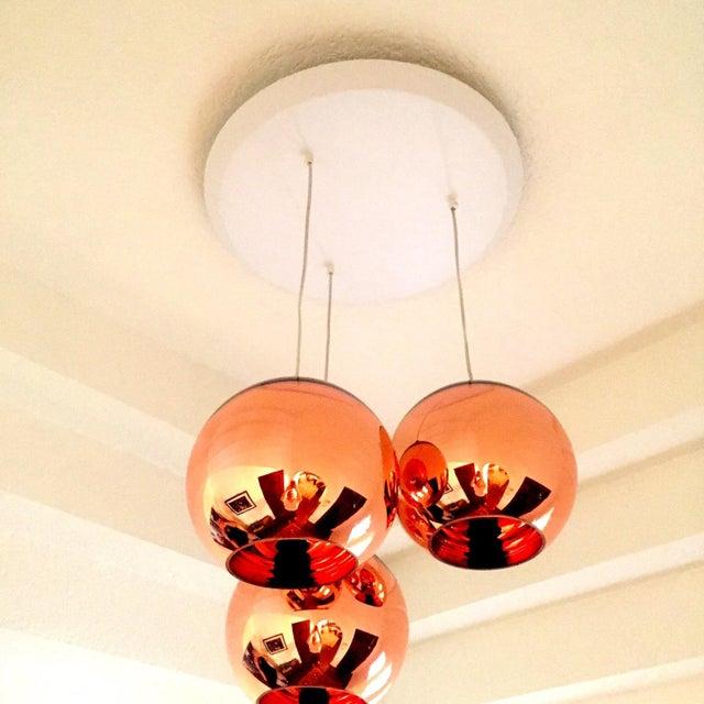 Tom Dixon Copper 25 3 Light Multipoint Pendant - Image 3 of 3