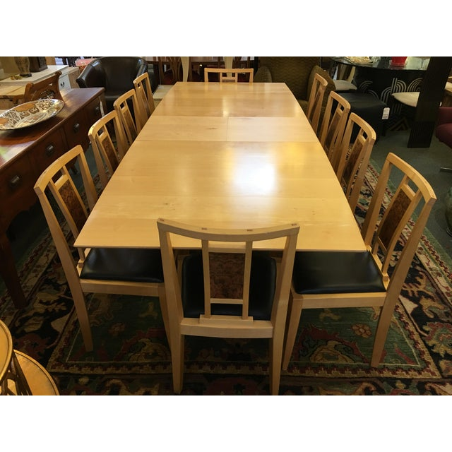 Robert Stangler Argus Dining Table & McCormick Chairs - Set of 11 - Image 4 of 11