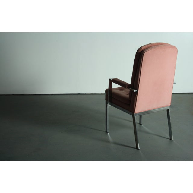Milo Baughman for DIA Blush Dining Chairs - S/6 - Image 8 of 12