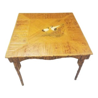 1940s Bamboo, Rattan Game Table