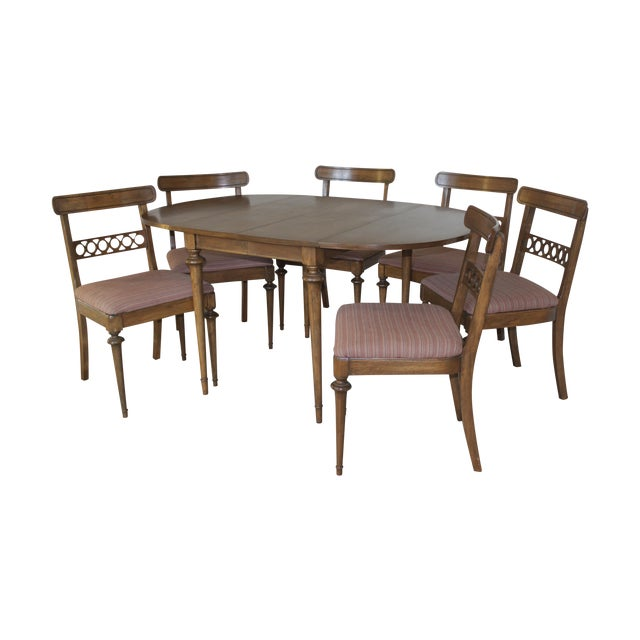 Mid-Century Drop Leaf Dining Set - Image 1 of 7
