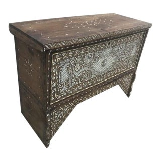 Eclectic Antique Inlaid Trunk