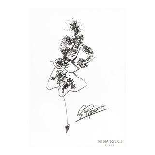 Nina RIcci Fashion Design Drawing