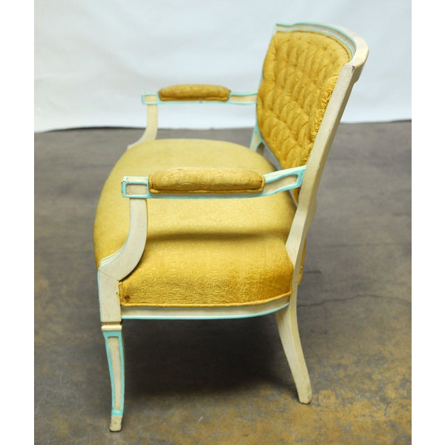 French Louis XVI Painted Canape Settee - Image 5 of 6