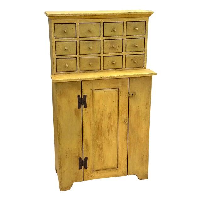 Handmade Yellow Apothecary Cupboard - Image 1 of 10