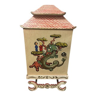 Asian Style Novelty Hand Painted Bar Cabinet