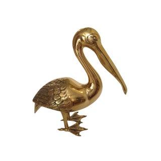 Monumental Vintage Brass Pelican