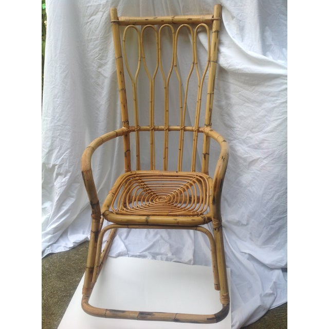 Mid-Century Ficks and Reed Style Bamboo Rocking Chair - Image 2 of 8
