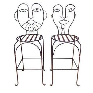 John Risley-Style Bar Stools - A Pair