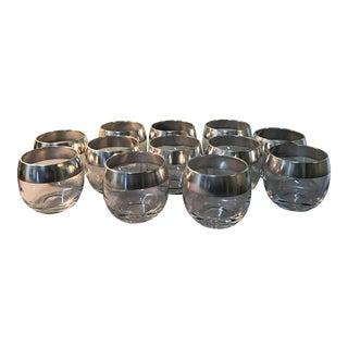 Dorothy Thorpe Silver Band Glasses - Set of 12