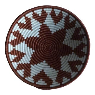 African White & Brown Woven Basket