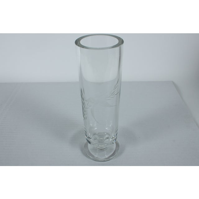 Hummingbird Etched Glass Vase - Image 3 of 4