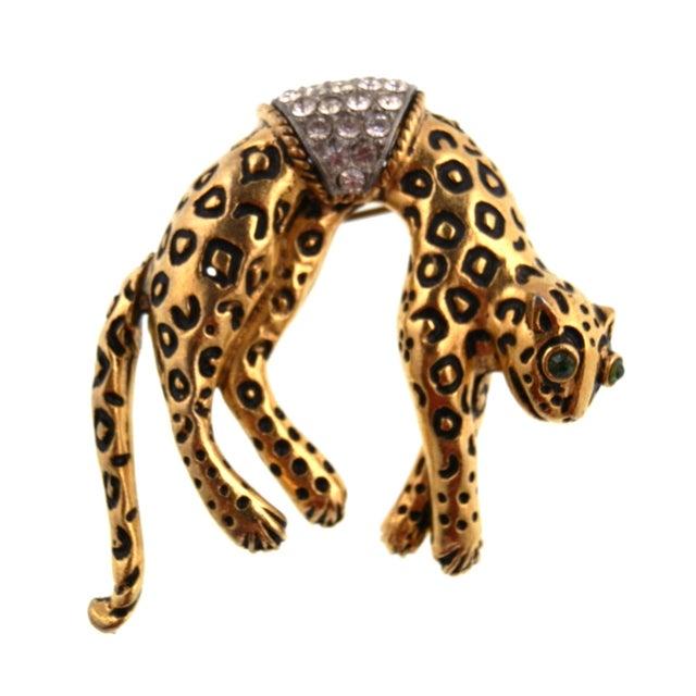 Image of Florenza Hanging Leopard Brooch