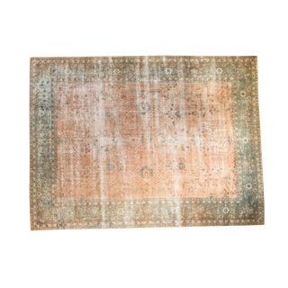 """Distressed Sarouk Design Carpet - 8'8"""" x 11'8"""""""