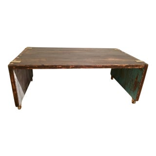 Indoor/Outdoor Rustic Coffee Table/Bench