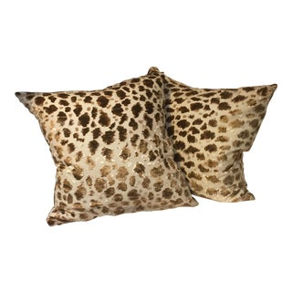 Silk Velvet Cheetah Pillows - A Pair