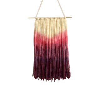 Purple Ombre Hand Dyed Wall Hanging
