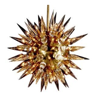 Monumental Italian Sputnik or Starburst Chandelier, Italy