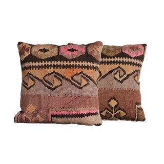 Colorful Kilim Throw Pillows - a Pair