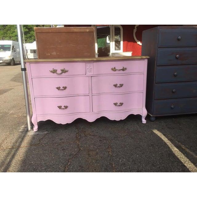 Bassett Shabby Chic French Provincial Pink Dresser