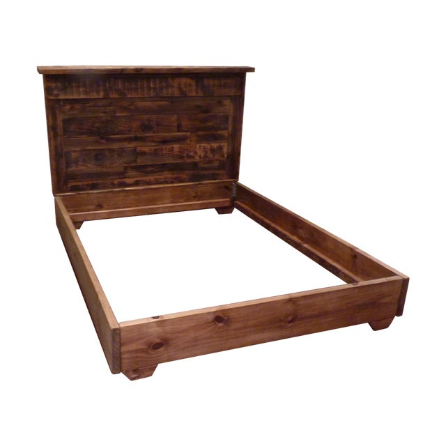 Shabby Chic Reclaimed Wood Queen Bed Frame - Image 1 of 6