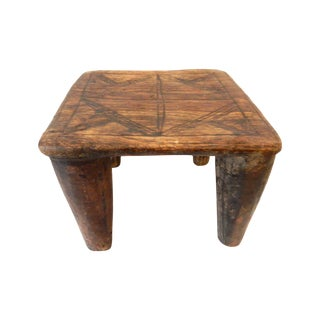 Rustic Nigerian Nupe Stool Table