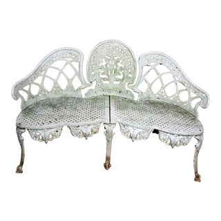 19th C. Cast Iron Garden Bench