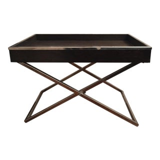 Modern Wood & Steel Tray Table