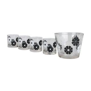 70's Ice Bucket & 4 Glasses