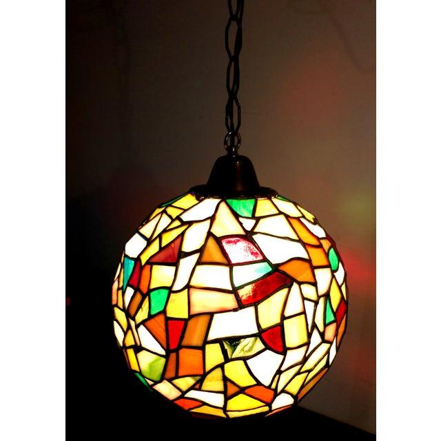 Mid-Century Mosaic Globe Pendant Lamp - Image 3 of 8