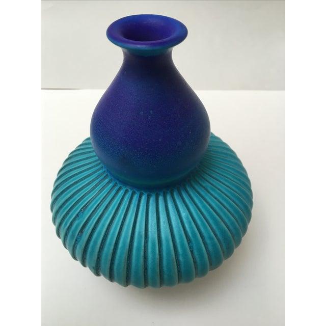 Studio Ceramic Teal Vase - Image 4 of 8