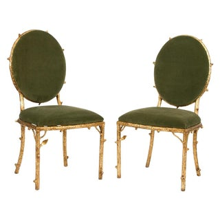 Gilded Forest Chairs - A Pair