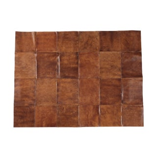 "Patchwork Leather Rug - 7' 7"" x 5' 9"""